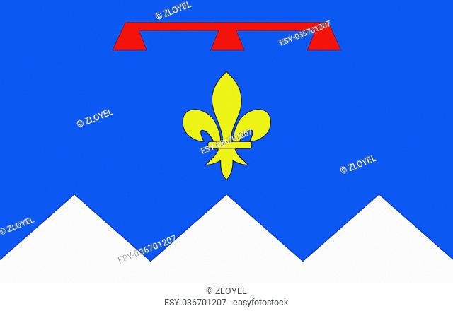 Flag of Alpes-de-Haute-Provence is a French department in the south of France, it was formerly part of the province of Provence