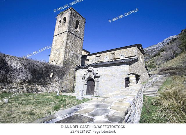 San Victorian convent one of the oldest in Spain in Los Molinos Huesca Aragon Spain