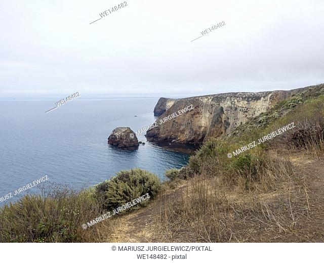 Santa Cruz Island is the largest of the eight islands in the Channel Islands located off the coast of California