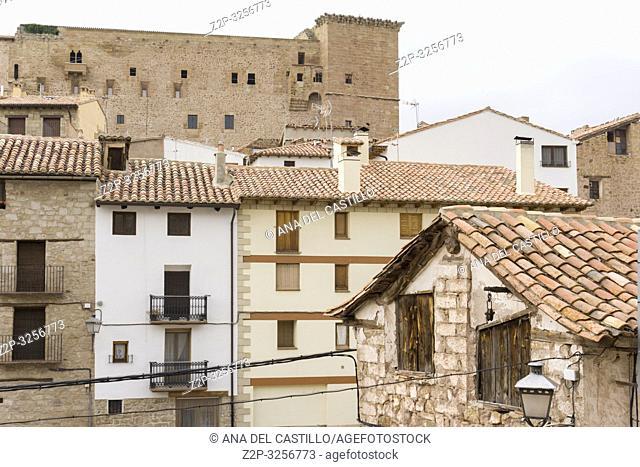 Mora de Rubielos village and castle Teruel mountains Aragon Spain