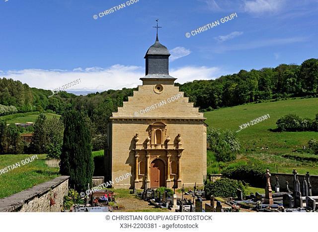 Our Lady church, village of Elan, near Sedan, Ardennes department, Champagne-Ardenne region of northeasthern France, Europe