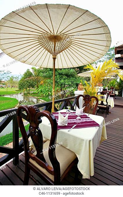 Villa Santi Resort. Outside the city. Luang Prabang. Laos