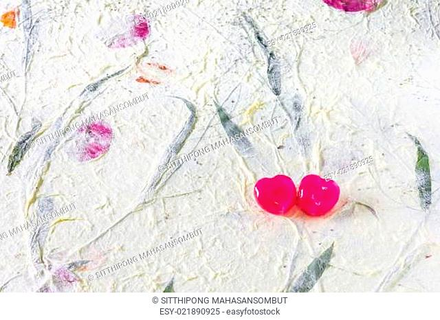 2 Sweetheart on Mulberry Paper Background
