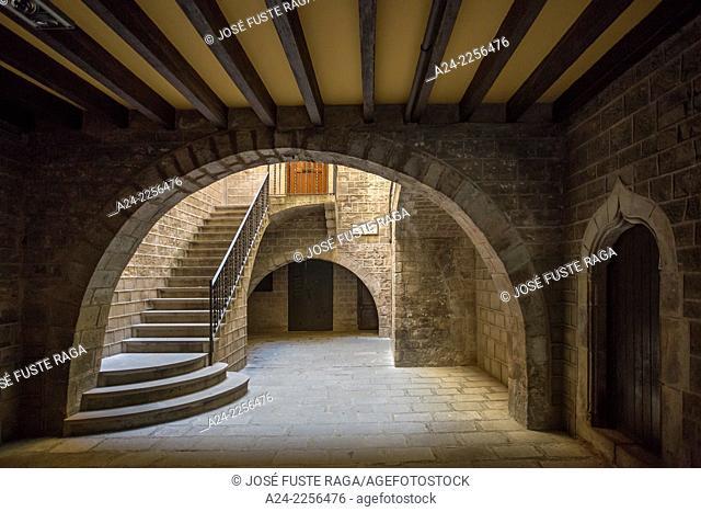 Spain , Catalunya,Barcelona City ,near Sant Jaume Square., Medieval Bulding entrace