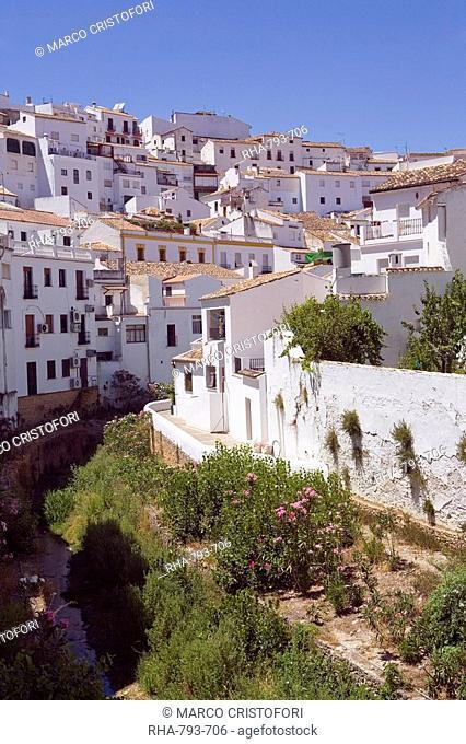 Setenil de las Bodegas, one of the white villages, Malaga province, Andalucia, Spain, Europe