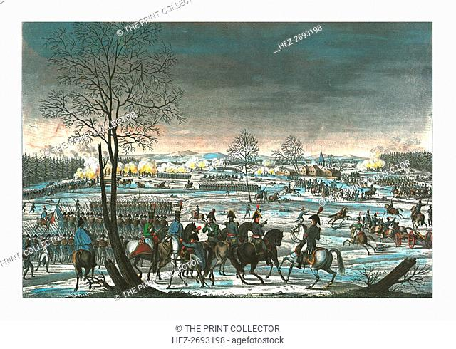 Battle near Hohenlinden, 3 December 1800, c1850). Artist: Edme Bovinet