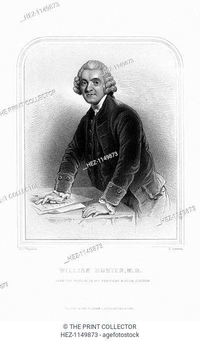 Dr William Hunter, Scottish anatomist and obstetrician, (1870). Hunter (1718-1783), the older brother of the famed physiologist and surgeon John Hunter