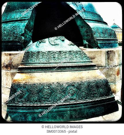 Tsar Bell, Kremlin, Moscow, Russian Federation, eastern Europe. Cast in 1735 for the Ivan the Great Bell Tower. During a fire in 1737