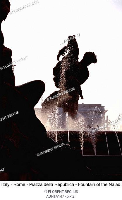 Italy - Rome - Piazza della Republica - Fountain of the Naiad