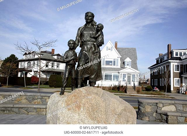 Fishermens Wives Memorial on Stacy Boulevard in Gloucester, Massachusetts USA, which is part of scenic New England. This memorial is located next to the...