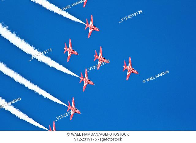 Red Arrows Air show in Kuwait, RAF