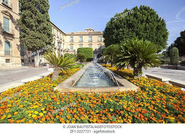 City view, square,Plaza de la Glorieta,Murcia,Spain