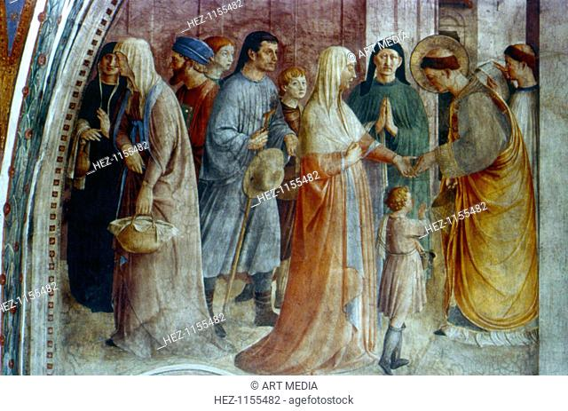 'St Stephen Distributing Alms', mid 15th century. St Stephen (dc35), a deacon of the early Christian church in Jerusalem