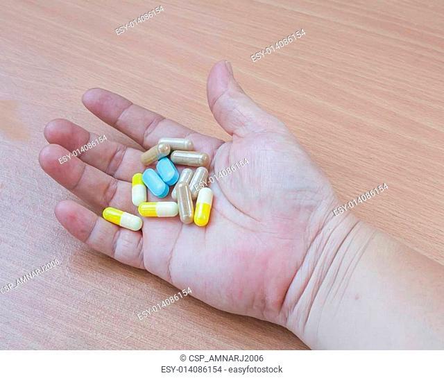 drug in hand