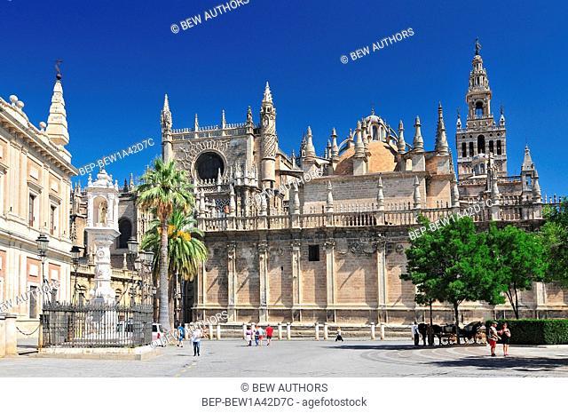 Sevilla Cathedral (Catedral de Santa Maria de la Sede), Gothic style architecture in Spain, Andalusia region