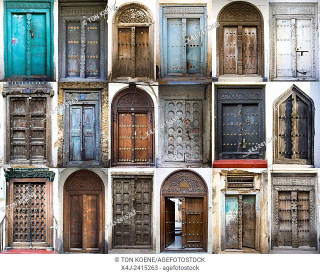 zanzibar is famous for its old wooden doors