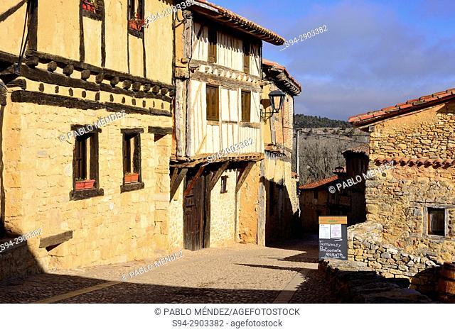 Rustic facades of Calatañazor, Soria, Spain