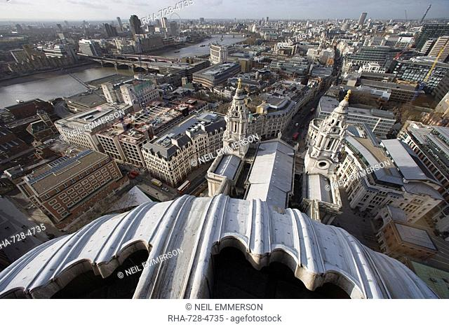 Dome of St. Paul's Cathedral, London, England, United Kingdom, Europe