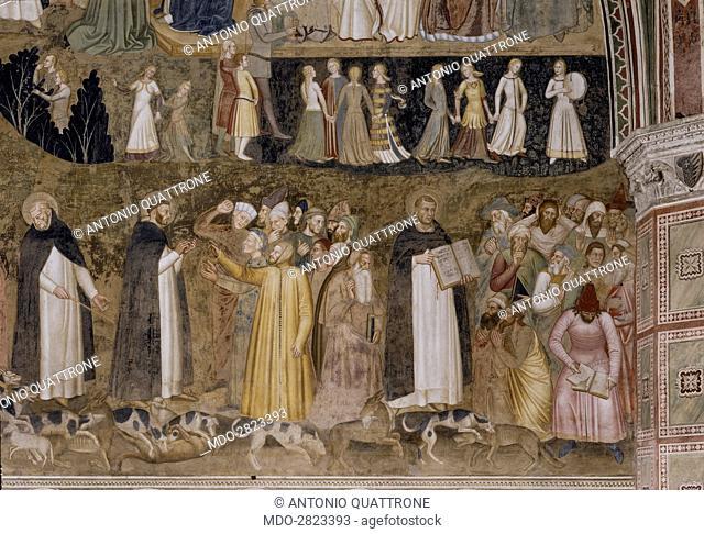 The Church Militant and Triumphant (La Chiesa militante e trionfante), by Andrea di Bonaiuto, 1365-1367, 14th Century, fresco