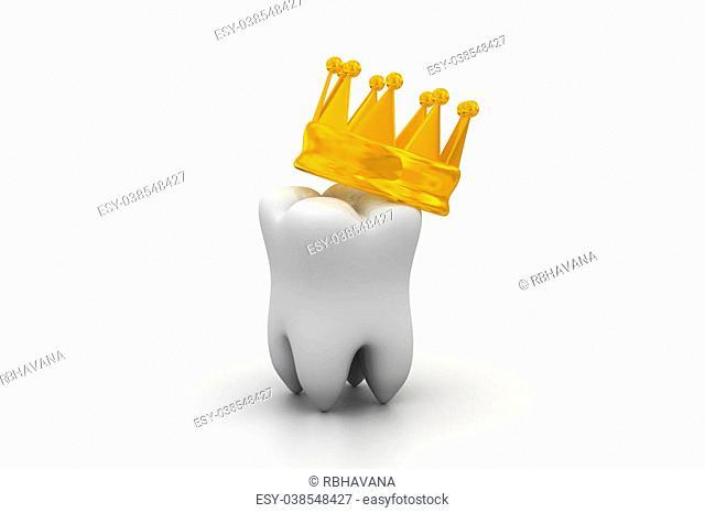 Digital illustration of dental in medical color background
