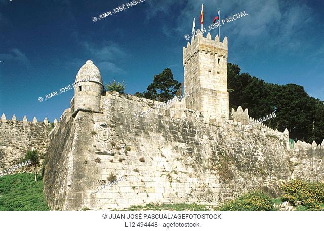 Castle of Monte Real, Bayona. Pontevedra province, Galicia, Spain