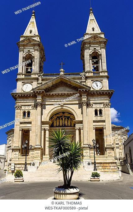 Italy, Apulia, Alberobello, Basilica di Santi Cosma e Damiano