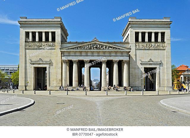 The Propylaea, a classical gatehouse on Koenigsplatz square, Munich, Bavaria, Germany