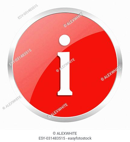 red web button isolated