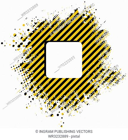 Abstract stripped yellow background with half tone dots