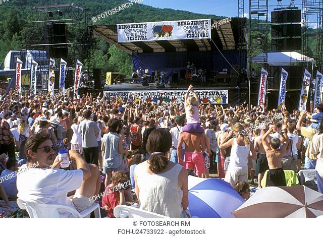 concert, crowd, Vermont, VT, Ben & Jerry's One World One Heart Festival at Sugarbush Ski Resort in the summer in Warren