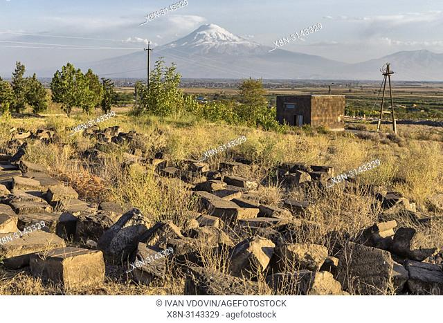 Ararat valley in Sardarapat, Armavir province, Armenia