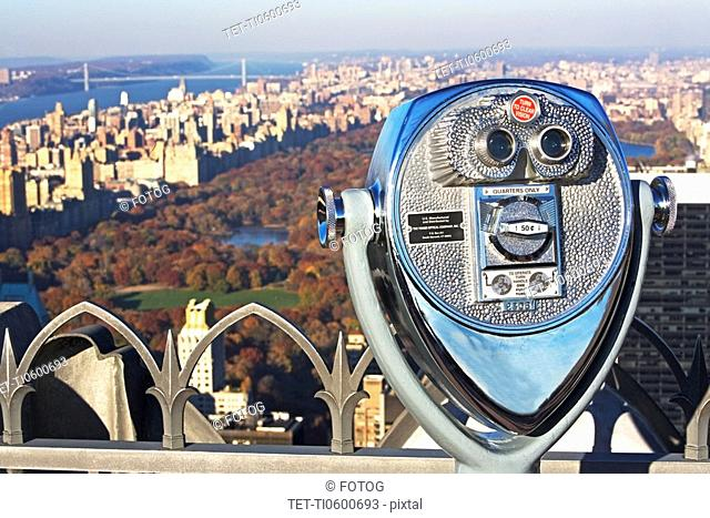 stationary viewer and Central Park, New York City