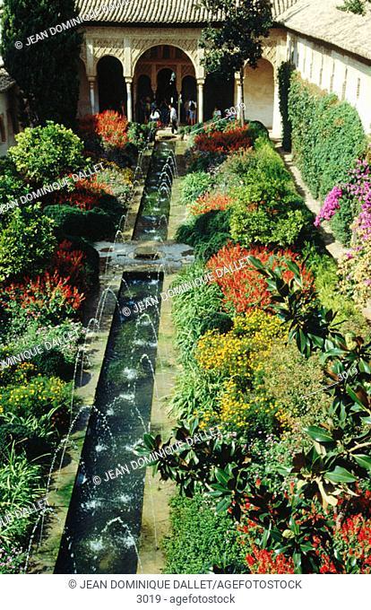 Jardines del Generalife. Granada. Spain