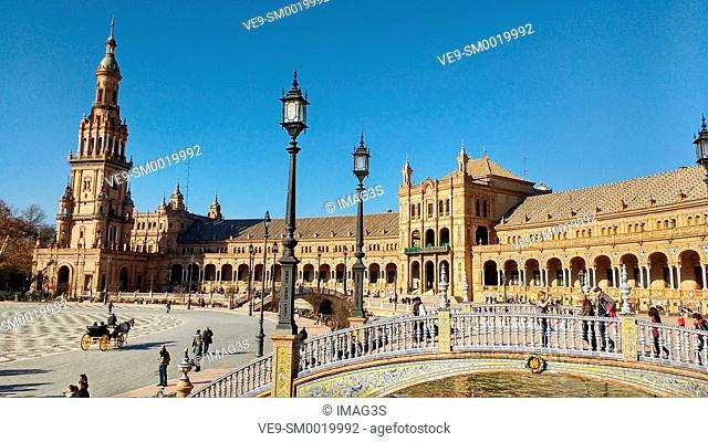 España square, Seville, Andalusia, Spain