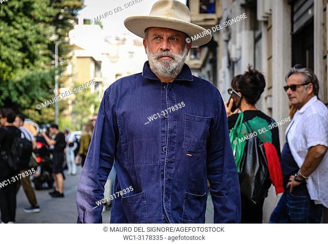 MILAN, Italy- September 19 2018: Robert Rabensteiner on the street during the Milan Fashion Week