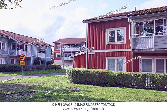 Housing estate, Osthammar, Uppsala County, Sweden, Scandinavia