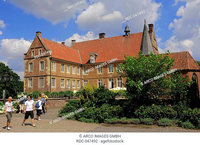 Castle Hulshoff, house of birth of Annette von Droste-Hulshoff, Havixbeck, Munsterland, North Rhine-Westphalia, Germany / Burg Hülshoff