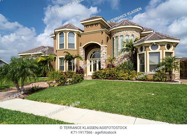 A real estate show home near Mission, Texas, USA