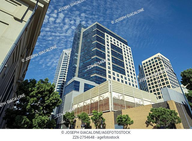buildings in downtown San Diego, California, USA