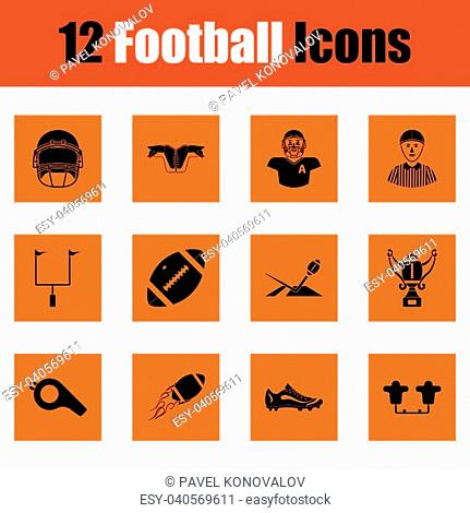 American football icon. Orange design. Vector illustration