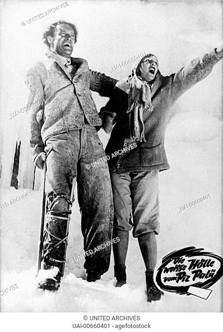 DIE WEISSE HÖLLE VOM PIZ PALÜ / Die weisse Hoelle vom Piz Palue D 1929 / Arnold Fanck/Georg Wilhelm Pabst LENI RIEFENSTAHL als Maria Majoni und ERNST PETERSEN...