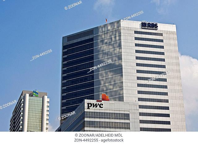 Hochhäuser, RBS und PWC, Sathorn, Bangkok, Thailand, Südostasien Skyscrapers, RBS and PWC, Sathorn, Bangkok, Thailand, Southeast Asia