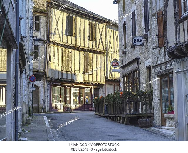 Grand Rue, Issigeac, Dordogne Department, Nouvelle Aquitaine, France