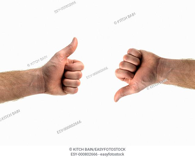 A hand isolated against a white background