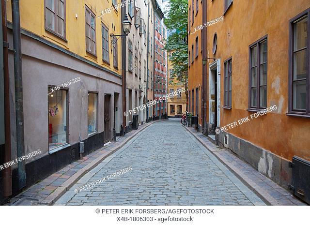 Kindsungatan street Gamla Stan the old town Stockholm Sweden Europe