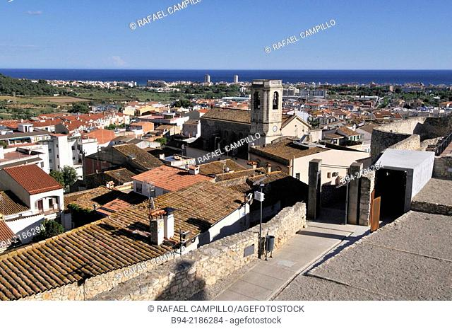 Calafell town. General view from Calafell castle. Located at the heart of the Baix Penedès region, the gateway to the Costa Daurada. Tarragona