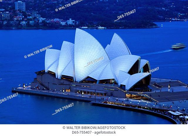 Australia - New South Wales (NSW) - Sydney: Sydney Opera House from The Rocks area in the evening