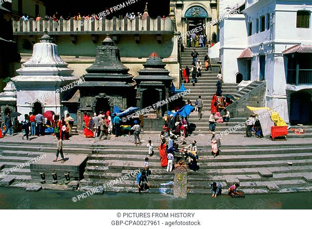 Nepal: Arya Ghat (Steps of the Nobles), Pashupatinath, Kathmandu