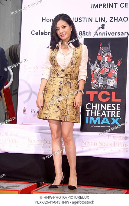 Zhao Wei 06/03/2015 88th Birthday Commemoration Of TCL Chinese Theater IMAX held at the TCL Chinese Theatre in Hollywood