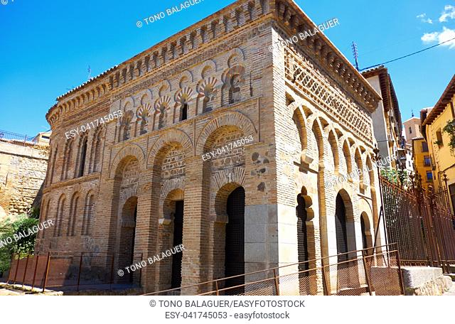 Toledo Cristo de Luz old Mosque in Castile La Mancha of Spain